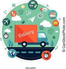 plat, business, moderne, illustration, conception, infographics