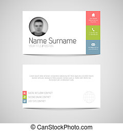 plat, business, moderne, utilisateur, gabarit, interface, carte