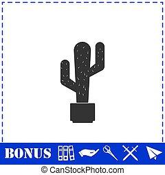 plat, cactus, icône