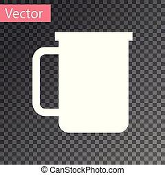plat, café, coffee., cup., tasse, thé, boisson, isolé, illustration, arrière-plan., chaud, vecteur, blanc, transparent, icône