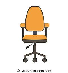 plat, chaise, icon., bureau