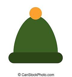 plat, chapeau, hiver, illustration