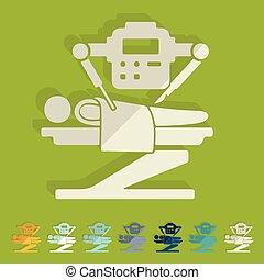 plat, chirurgien, design:, robot