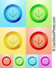 plat, cirkel,  Vector, Ontwerp, knoop
