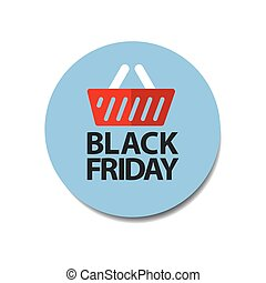 plat, coût, vendredi, étiquette, noir, autocollant