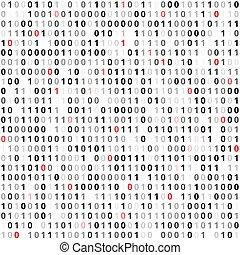 plat, code, binair