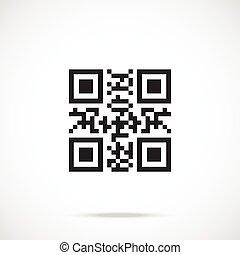 plat, code, qr, vector, icon., pictogram