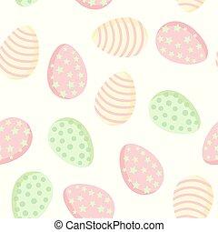 plat, coloré, collection, style, pattern., paques, carreau, ...