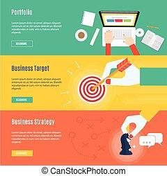 plat, concept, business, élément, conception, icône