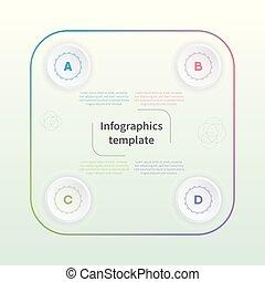 plat, concept, coloré, business, icons., infographic, gabarit, style.
