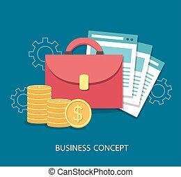 plat, concept., conception, business