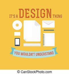 plat, concept, conception, icône, élément
