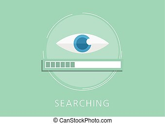 plat, concept, données, recherche, icône