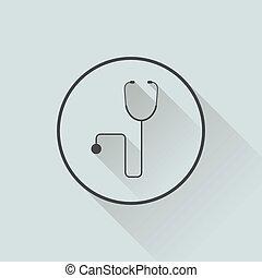 plat, concept, illustratie, ontwerp, geneeskunde, pictogram