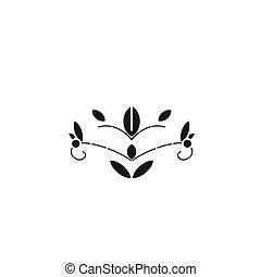plat, concept, illustration, signe, vecteur, noir, soapwort, icon.