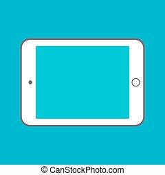 plat, concept, ipad, tablette, vide, screen., ordinateur pc, conception, numérique, utilisation, semblable