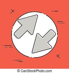 plat, concept, overdracht, -, vector, minimaal, pictogram