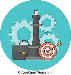 plat, concept., strategie, zakelijk, design.