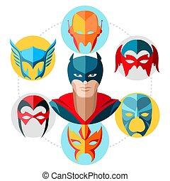 plat, concept, superhero