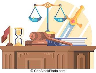 plat, concept, tribunal, jurisprudence, droit & loi