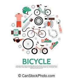 plat, concept, vélo