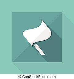 plat, concept, -, vlag, vector, minimaal, pictogram