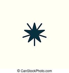 plat, conception, étoile, icône
