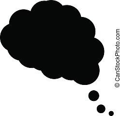 plat, conception, branché, rêve, nuage, icône