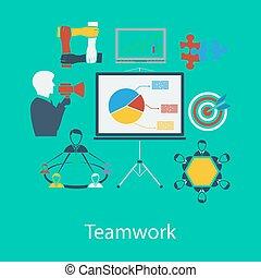 plat, conception, business, collaboration
