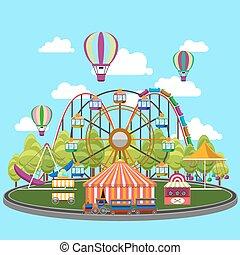 plat, conception, carrousel