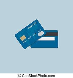 plat, conception, carte, crédit