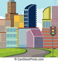 plat, conception, urbain