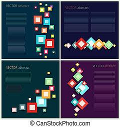 plat, conceptions, vecteur, ensemble, résumé, infographic