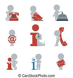 plat, contacten, -, mensen, informatie