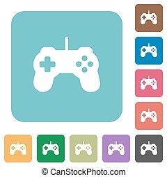 plat, contrôleur jeu, icônes