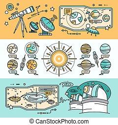 plat, cosmos, concept, style, scientifique
