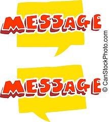 plat, couleur, illustration, textes, message, dessin animé