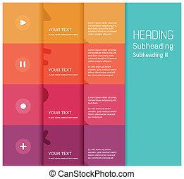 plat, couleur, -, illustration, vecteur, conception, gabarit, 5