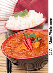 plat, curry