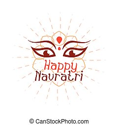 plat, déesse, indien, style, célébration, puissance, icône, navratri, durga, heureux