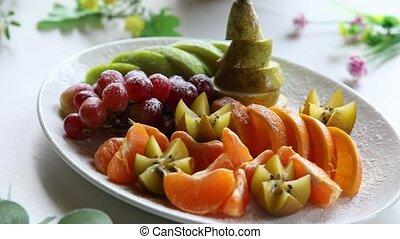 plat, de, a, assorti, fruit frais