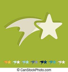plat, design:, étoile, noël