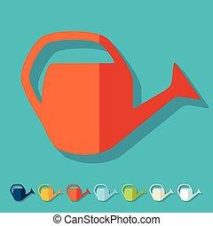 plat, design:, boîte, arrosage