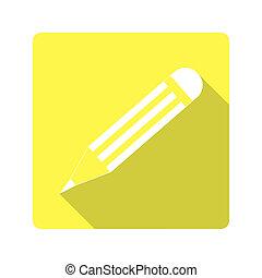plat, design., crayon, icône