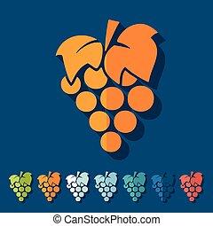 plat, design:, druiven