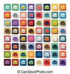 plat, design:, hamburger