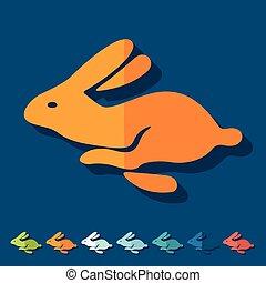 plat, design:, lapin pâques