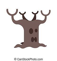 plat, devil's, arbre, illustration