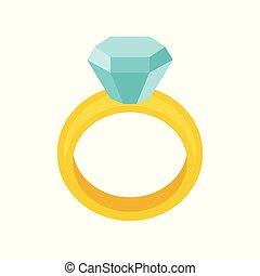 plat, diamant, bijouterie, apparenté, anneau, conception, mariage, icône