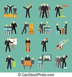 plat, direction, icônes